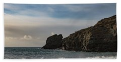 Beach Towel featuring the photograph Trevellas Cove Cornwall by Brian Roscorla