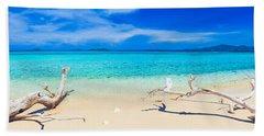 Tropical Beach Malcapuya Beach Towel