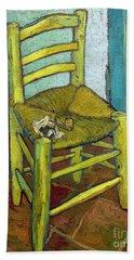 Van Gogh's Chair Beach Sheet