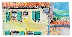 View Of Luberon Beach Towel