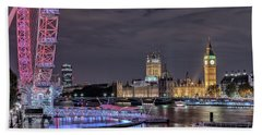Westminster - London Beach Towel by Joana Kruse