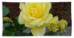 4 Yellow Roses Beach Towel