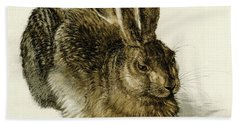 Young Hare Beach Towel
