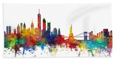 New York Skyline Beach Towel