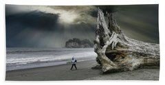 Beach Sheet featuring the photograph 4392 by Peter Holme III