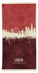 London England Skyline Beach Towel