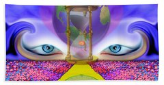 Beach Towel featuring the digital art 444 Pathway by Barbara Tristan