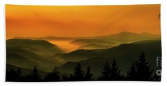 Beach Towel featuring the photograph Allegheny Mountain Sunrise by Thomas R Fletcher