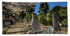 47 Samurai And Cherry Blossoms Beach Towel