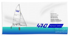 470 Olympic Sailing Beach Towel