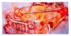 48 Dodge 3 Window Business Coupe Beach Towel