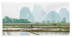 Karst Rural Scenery In Spring Beach Sheet