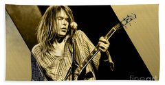 Neil Young Collection Beach Sheet by Marvin Blaine