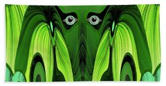 482   Green Ghost Of The Woods V Beach Towel