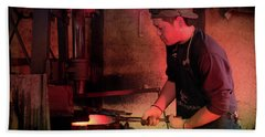 4th Generation Blacksmith, Miki City Japan Beach Towel