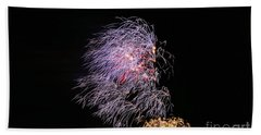 Beach Towel featuring the photograph 4th Of July - Bamboo Fireworks by Craig Wood