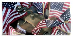 4th Of July Flags Beach Towel by John S