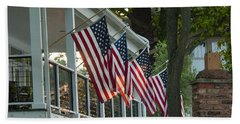 4th Of July Porch Beach Towel