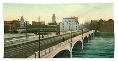 4th Street Bridge Waterloo Iowa Beach Towel