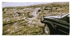 4wd On Offroad Track Beach Towel