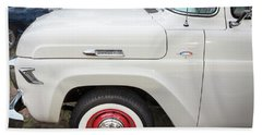 1957 Ford F100 Pickup Truck  Beach Sheet by Rich Franco
