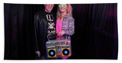 80's Dance Party At Sterling Events Center Beach Towel