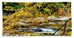 Autumn Middle Fork River Beach Towel