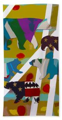 5 Bears Heading To Graceland Beach Towel
