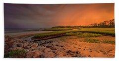 Beach Towel featuring the photograph Big Talbot Island by Peter Lakomy