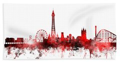 Blackpool England Skyline Beach Towel