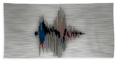 Breathe Spoken Soundwave Beach Towel by Marvin Blaine