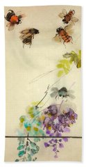Bugs And Blooms Album Beach Towel