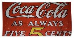 5 Cent Coca Cola Beach Towel