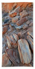 Beach Towel featuring the photograph Colorful Cove In Valley Of Fire by Ray Mathis