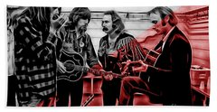 Crosby Stills Nash And Young Beach Towel