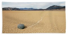 Beach Sheet featuring the photograph Death Valley Racetrack by Breck Bartholomew