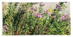 Beach Towel featuring the photograph Flowers by Artistic Panda