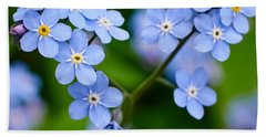 Forget Me Not Beach Sheet by Jouko Lehto