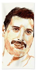 Freddie Mercury Portrait Beach Towel