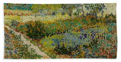Garden At Arles Beach Towel