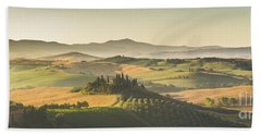 Golden Tuscany Beach Towel by JR Photography