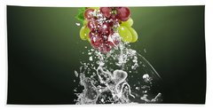 Grape Splash Beach Towel