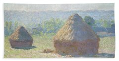 Haystacks, End Of Summer Beach Towel