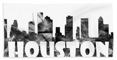 Houston Texas Skyline Beach Sheet
