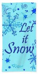 Let It Snow Beach Towel