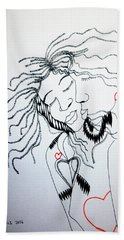 Love Is A Heart Beach Towel
