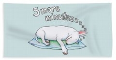 5 More Minutes Beach Towel