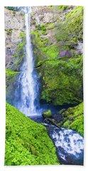 Beach Sheet featuring the photograph Multnomah Falls by Jonny D