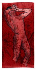Nude Man Beach Towel