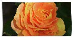 Beach Towel featuring the photograph Orange Rose by Elvira Ladocki